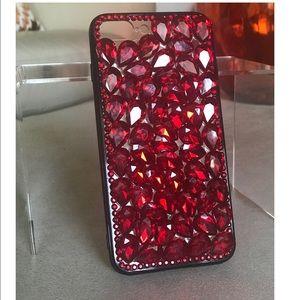 Accessories - iPhone 7 Plus Ruby Red Rhinestone Case NWOT 🎁🎁